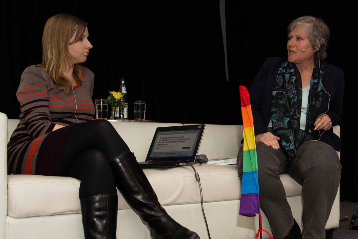Anne Wizorek und Susanne Maurer diskutierten über den Feminismus von heute.