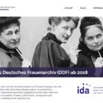 Screenshot der DDF-Homepage