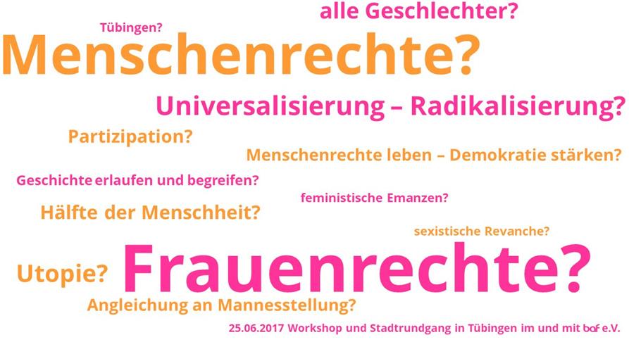 Menschenrechtswoche 2017: Feminismus bewegt Tübingen
