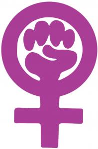 Frauenzeichen mit Faust