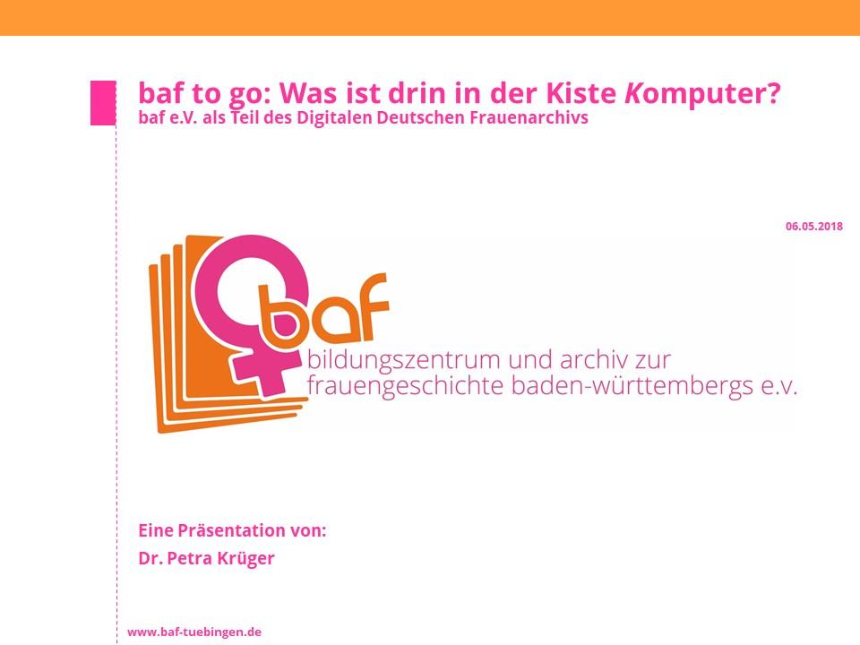 Ausschnitte Tübinger Frauengeschichte digitalisiert abrufbar