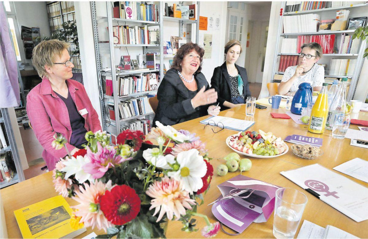 Staatssekretärin Bärbl Mielich bei baf