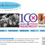 Screenshot Frauen & Geschichte Baden-Württemberg e.V.