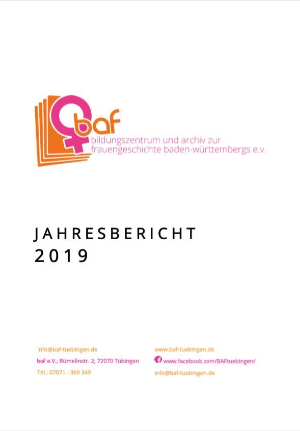 baf e.V. Jahresbericht 2019