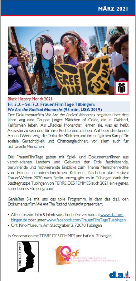 FrauenFilmtage Tübingen
