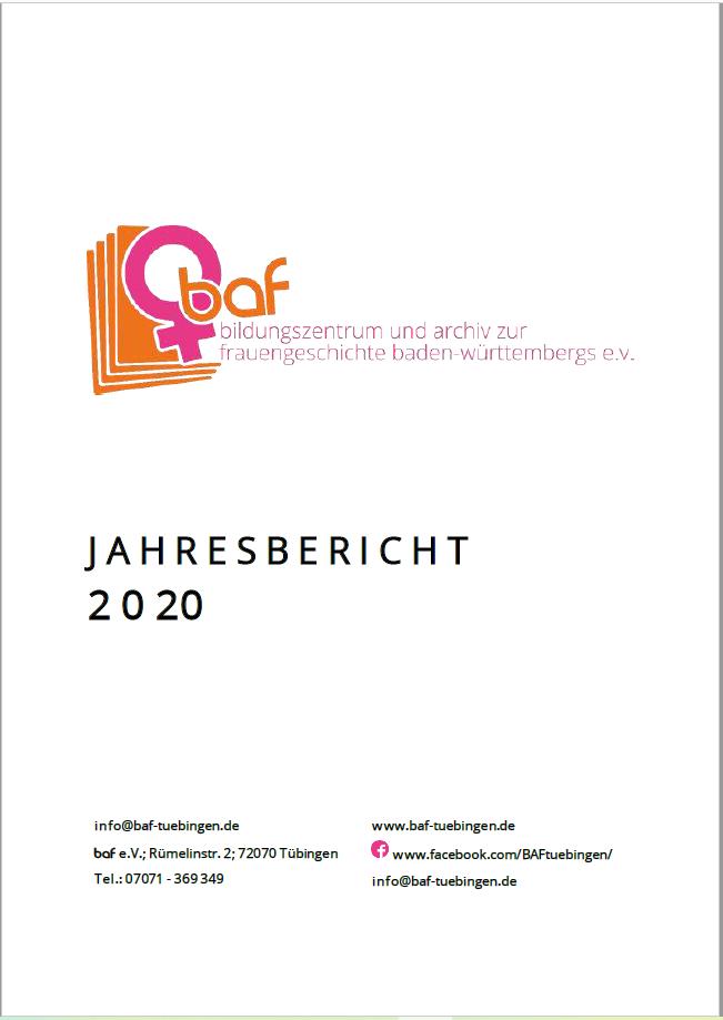 Der baf-Jahresbericht 2020 liegt vor!