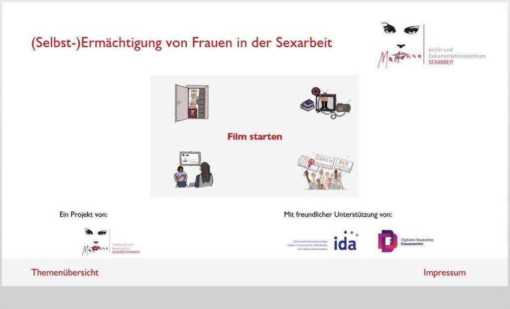 Info-Angebot des Madonna – Archiv und Dokumentationszentrums SEXARBEIT ist nun online!